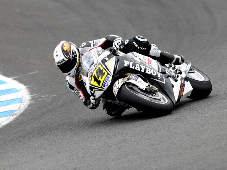 Randy de Puniet in action at the Official MotoGP Test in Jerez