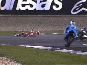 Hayden crash in Qatar QP