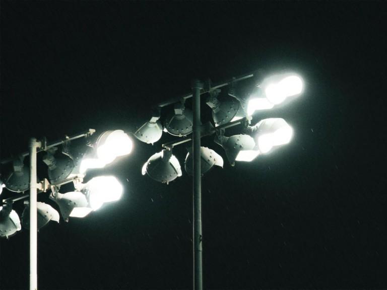 Rainy night at the Losail International Circuit