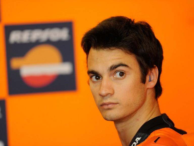 Dani Pedrosa in the Repsol Honda garage