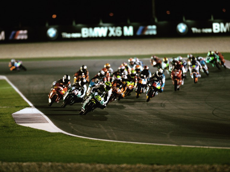 125cc Group in action in Qatar
