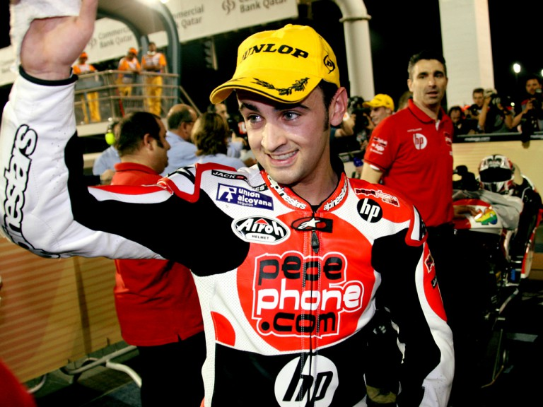 Héctor Barberá after the race in Qatar