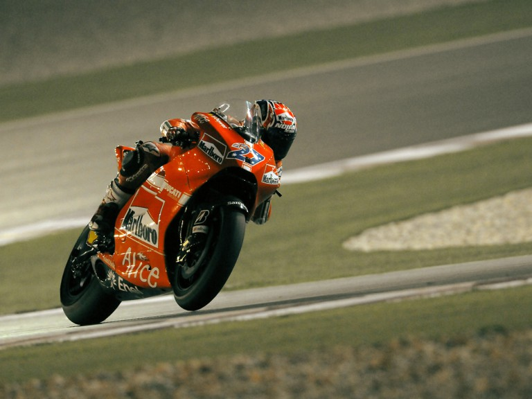 Casey Stoner on track in Qatar