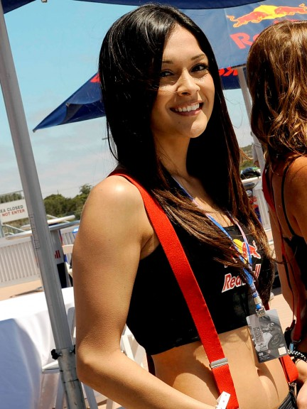 Paddock girls at the Red Bull U.S. Grand Prix