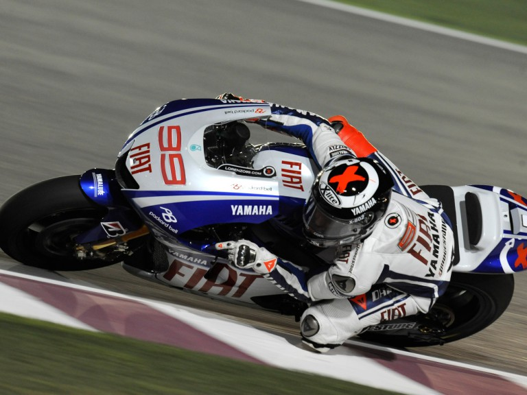 Lorenzo in action at Losail