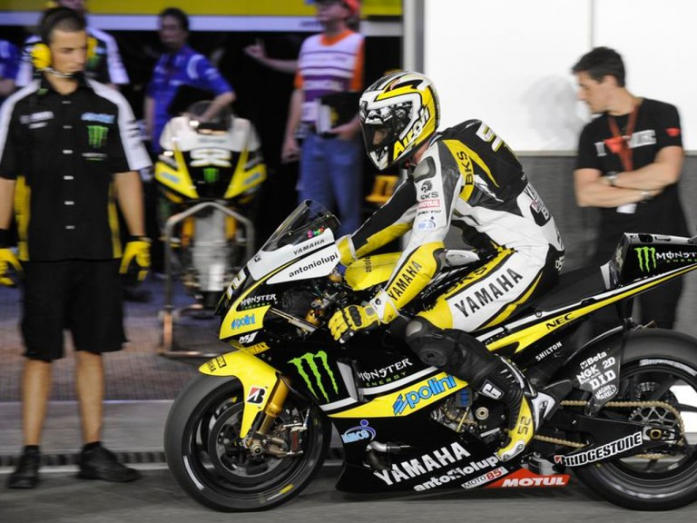 Toseland in the pitlane at Losail