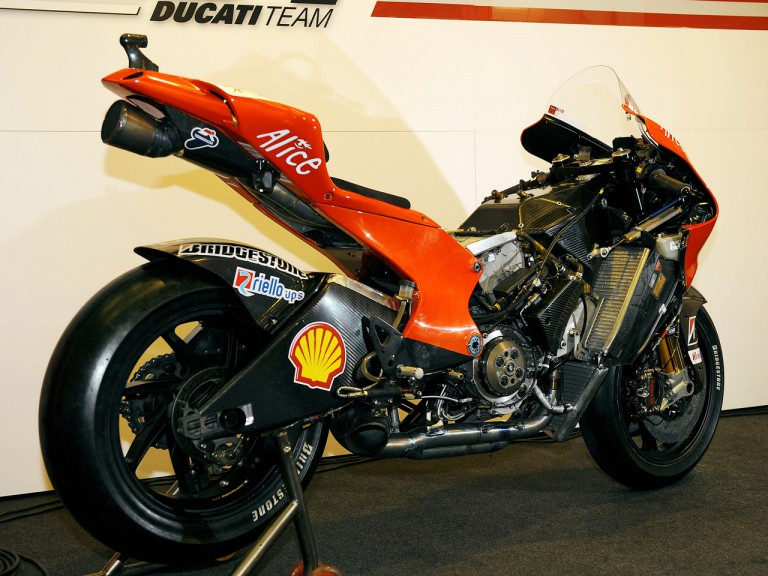 New carbon frame of Ducati Desmosedici GP9