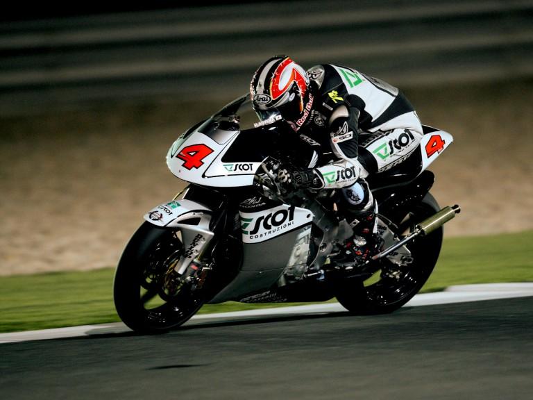Hiroshi Aoyama on track at Losail Circuit