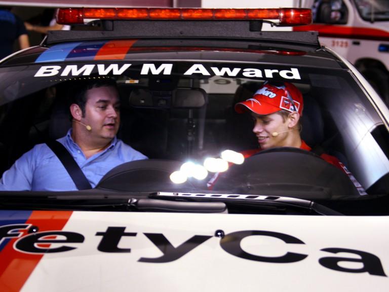 motogp.com commentator Gavin Emmett and Ducati's Casey Stoner
