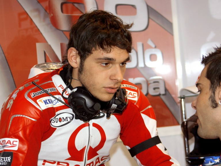 Niccolò Canepa in the Pramac Racing garage