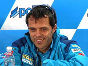 Loris Capirossi in Japanese press conference