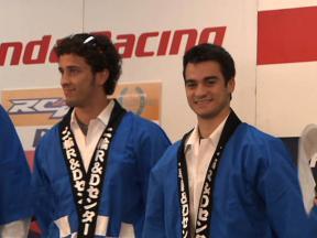 Dovizioso and Pedrosa visit Honda R&D