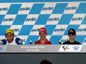 Rossi, Stoner and Pedrosa at the Polini Grand Prix of Japan Press Conference