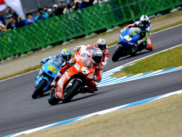 MotoGP Group in action in Motegi