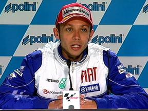 Valentino Rossi at qualifying press conference