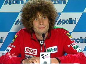 Marco Simoncelli at qualifying press conference