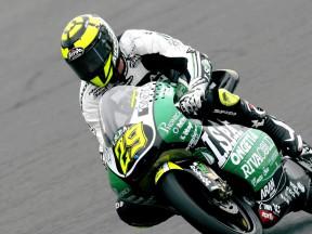 Andrea Iannone on track in Motegi