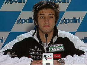 Andrea Iannone at qualifying press conference