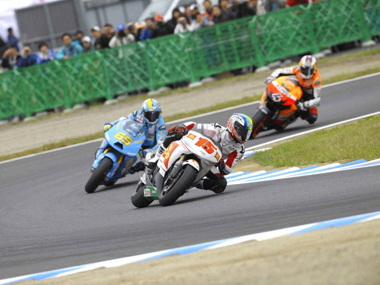 MotoGP Group in action during FP in Motegi