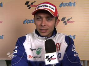 Rossi happy with pole spot