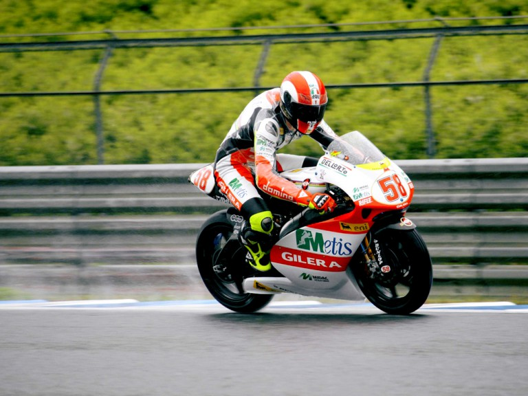 Marco Simoncelli on track in Motegi