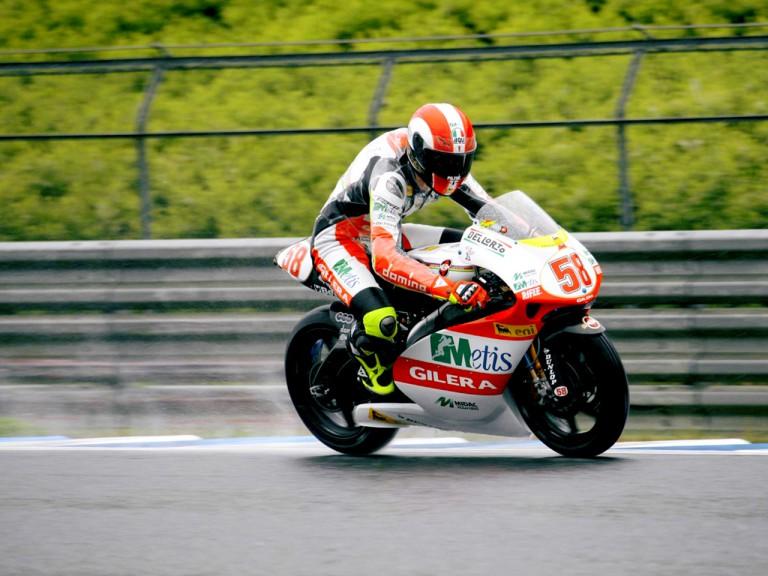 Marco Simoncelli on track in Motegi