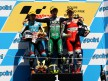 Julian Simon, Andrea Iannone and Pol Espargaró in the Podium at Motegi