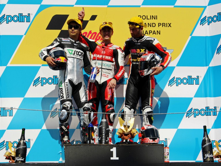 Aoyama, Bautista and Pasini on the Podium at Motegi