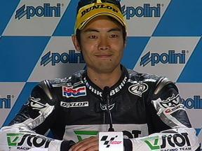 Hiroshi Aoyama interview after race in Japan