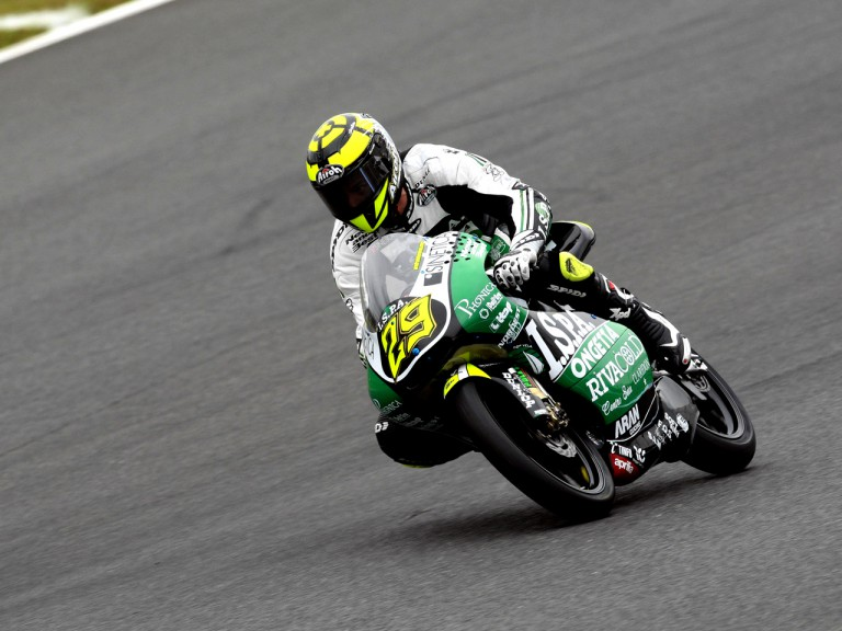 Andrea Iannone on track in Motegi