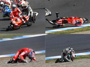 Photo sequence: Takahashi-Hayden collision at Motegi