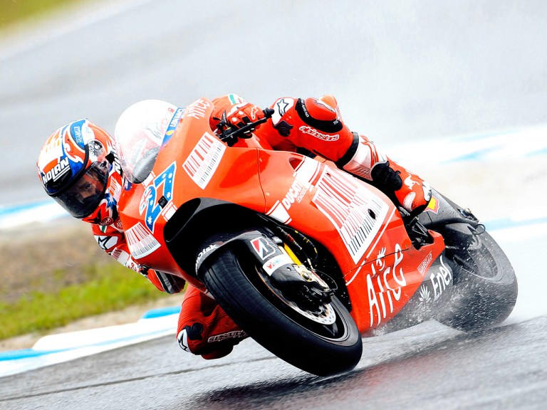 Casey Stoner on track in Motegi