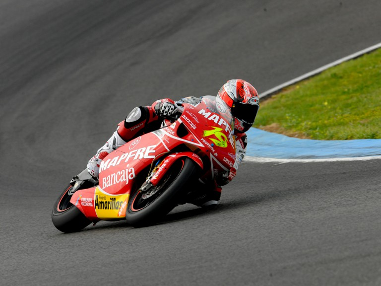 Álvaro Bautista in action at the Official Test in Jerez