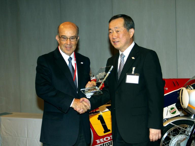 MotoGP and Honda executives at Honda 50th aniversary in Motegi