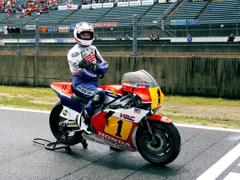 MotoGP Legend Freddie Spencer in Motegi