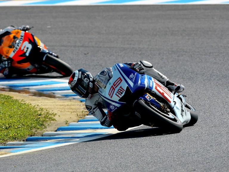 Jorge Lorenzo in action in Motegi