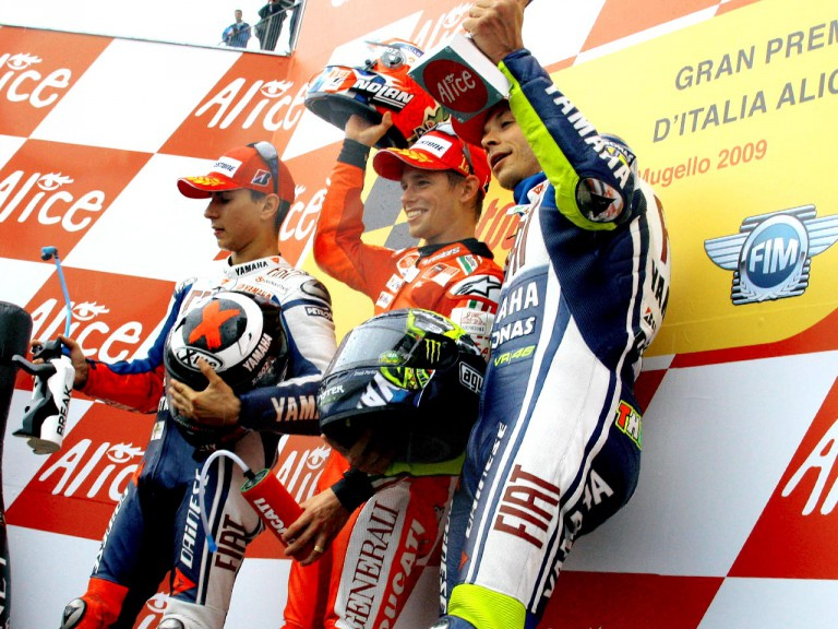 Rossi, Stoner and Lorenzo on the Podium at Mugello