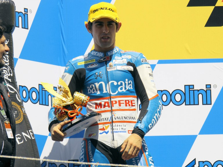 Julian Simon on the podium at Motegi