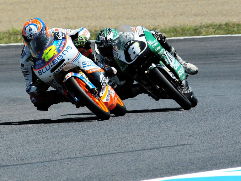 Esteve Rabat and Lorenzo Zanetti in action in Motegi