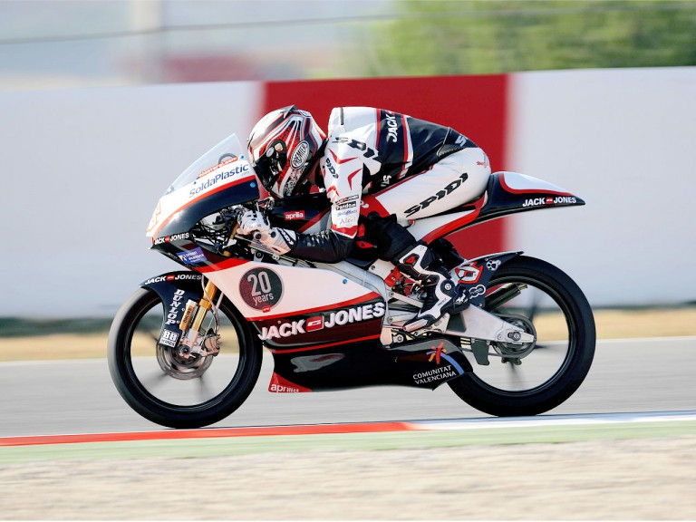 Nico Terol in action in Montmeló