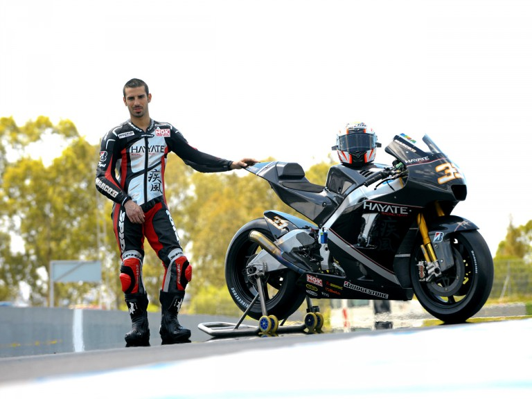 Marco Melandri with the Hayate Racing team in Jerez