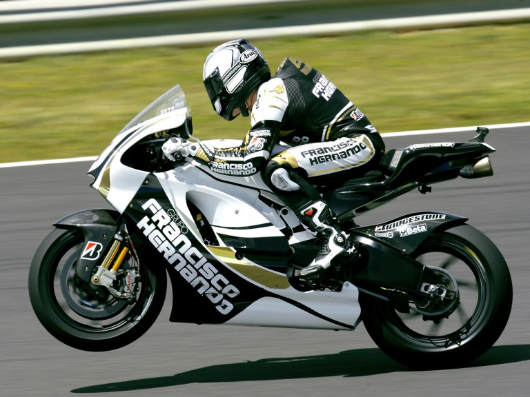 Sete Gibernau in action in Jerez