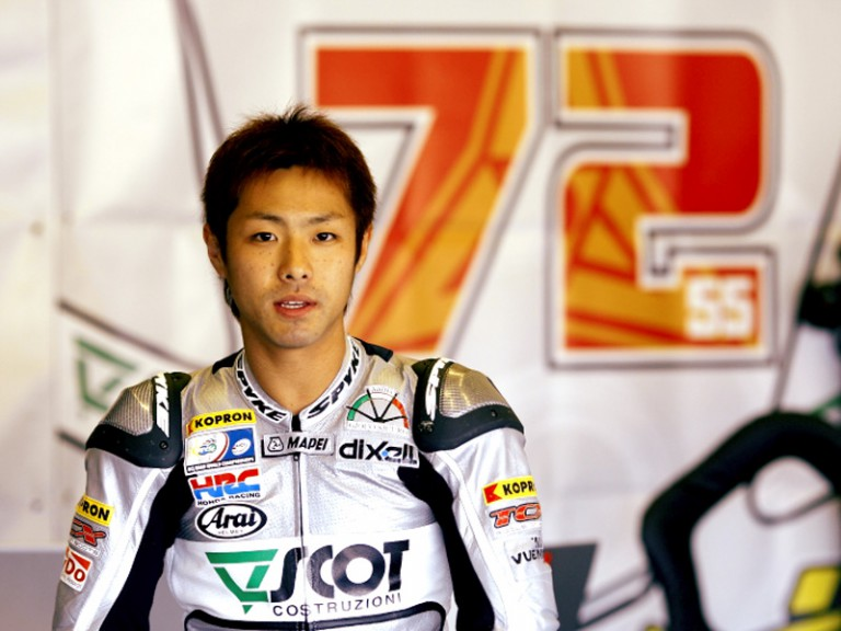 Yuki Takahashi in the Scot Racing garage