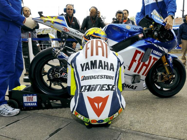 Valentino Rossi in pit