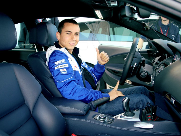 Jorge Lorenzo in BMW M safety car