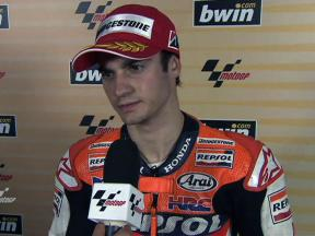 Pedrosa on second place grid spot