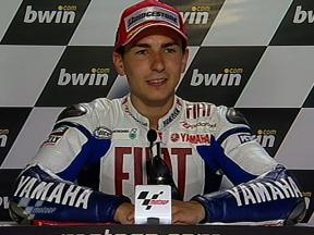 Jorge Lorenzo interview after QP in Jerez