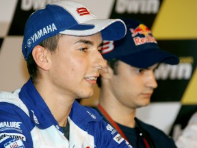 Jorge Lorenzo and Dani Pedrosa at the GP bwin.com de España Press Conference