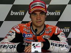 Dani Pedrosa interview after QP in Jerez