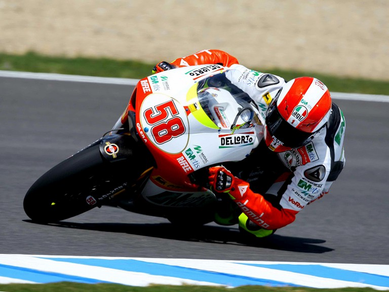 Marco Simoncelli on track in Jerez